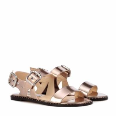 ジミー チュウ Jimmy Choo レディース サンダル・ミュール フラット シューズ・靴 Astrid Flat metallic leather sandals Tea Rose