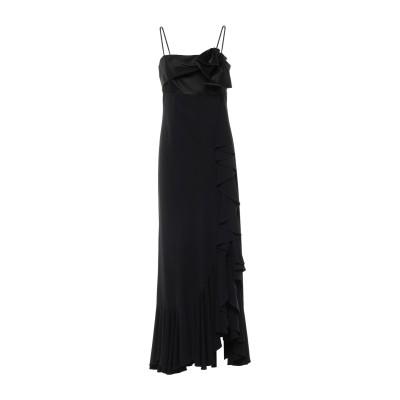 GAI MATTIOLO ロングワンピース&ドレス ブラック 42 アセテート 80% / ナイロン 20% ロングワンピース&ドレス