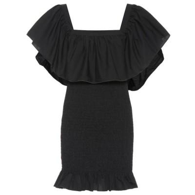 ソリッド&ストライプ Solid & Striped レディース ワンピース ワンピース・ドレス Smocked ruffle cotton minidress Black