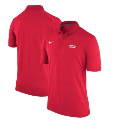 ナイキ ポロシャツ トップス メンズ Georgia Bulldogs Nike Collegiate Dry Polo Heathered Red