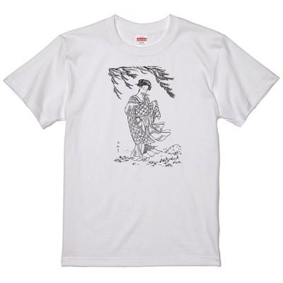 和柄 美人画 Tシャツ 和風 柳浮世絵 タトゥー 刺青