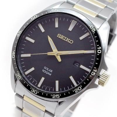 セイコー SEIKO 腕時計 メンズ SNE485P1 クォーツ ブラック シルバー