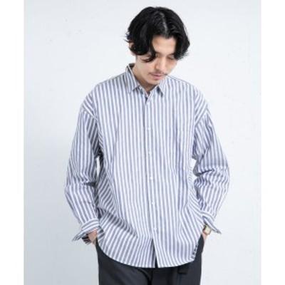 アーバンリサーチ ロッソメン(URBAN RESEARCH ROSSO MEN )/メンズシャツ(ALBINIストライプリラックスシャツ)