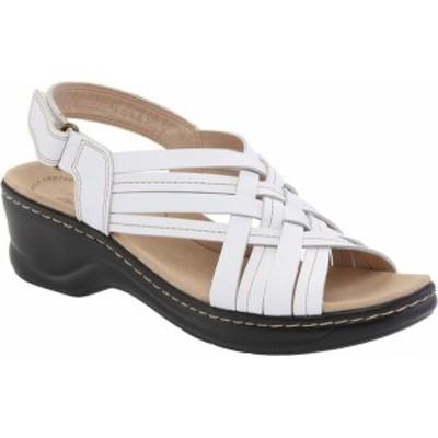 クラークス レディース サンダル シューズ Women's Clarks Lexi Carmen Slingback Sandal White Full Grain Leather