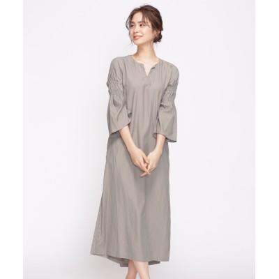 Sleeve Gathered Dress