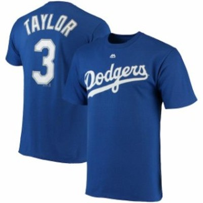 Majestic マジェスティック スポーツ用品  Majestic Chris Taylor Los Angeles Dodgers Royal Official Name & Number T-S