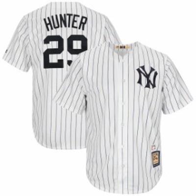 Majestic マジェスティック スポーツ用品  Majestic Catfish Hunter New York Yankees White Cooperstown Collection Cool