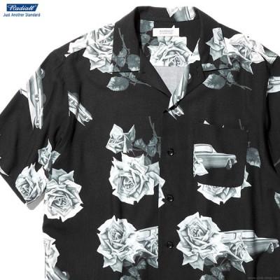 ラディアル RADIALL CHEVY ROSE - OPEN COLLARED SHIRT S/S (BLACK) メンズ トップス シャツ 半袖 ブラック アロハ