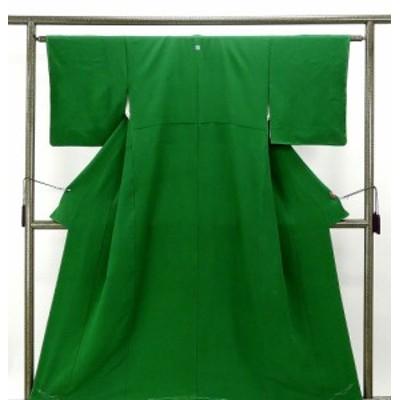 色無地 未着用 正絹 花井幸子 緑色 身丈153cm 裄丈62.5cm 色無地 未使用 着物