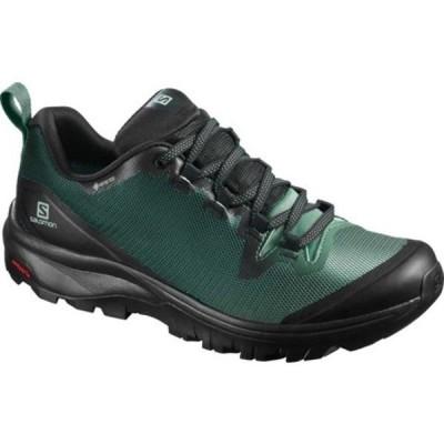 サロモン ブーツ&レインブーツ シューズ レディース Vaya GORE-TEX Hiking Shoe (Women's) Black/Balsam Green/Black