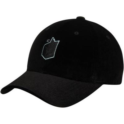 ユニセックス スポーツリーグ サッカー Minnesota United FC Mitchell & Ness Team Logo Adjustable Hat - Black - OSFA 帽子