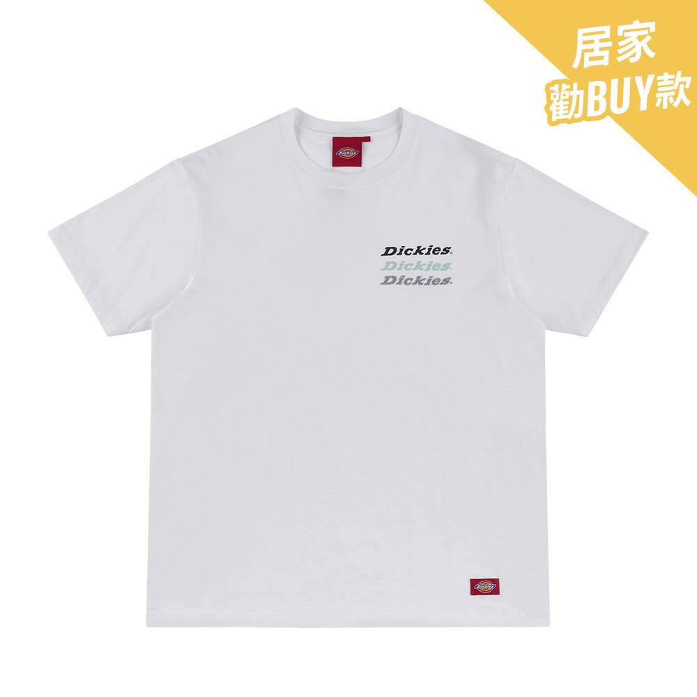 Dickies男款白色Logo字母印花純棉短袖T恤|DK008914C4D