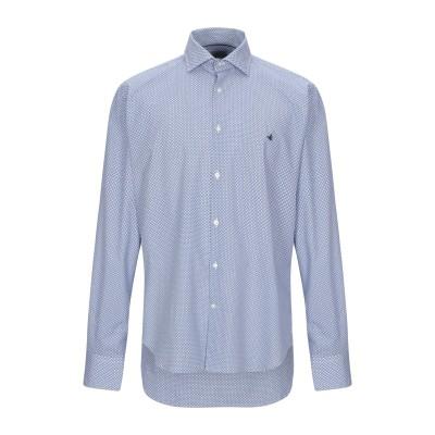 ブルックスフィールド BROOKSFIELD シャツ アジュールブルー 43 100% コットン シャツ