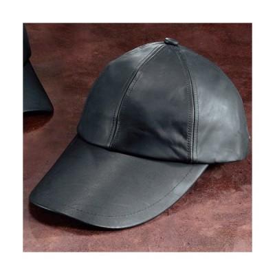 レザーキャップ(ロングバイザー) 日よけ メンズ 帽子 本革 牛革