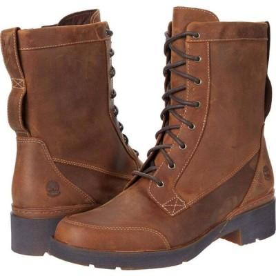 ティンバーランド Timberland レディース ブーツ シューズ・靴 Gracelyn Waterproof Mid Lace Side-Zip Boot Rust Full Grain