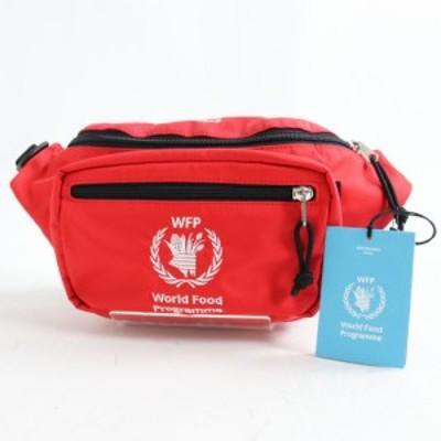 未使用品◎18AW バレンシアガ 539522 WORLD FOOD PROGRAMME ロゴ刺繍入り ボディバッグ/ベルトバッグ レッド イタリア製 保存袋