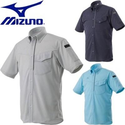 ◆◆【返品・交換不可】 送料無料 メール便発送 <ミズノ> 【MIZUNO】 18FW メンズ ニットワークシャツ半袖 作業着 ワーキング用品 F2JC