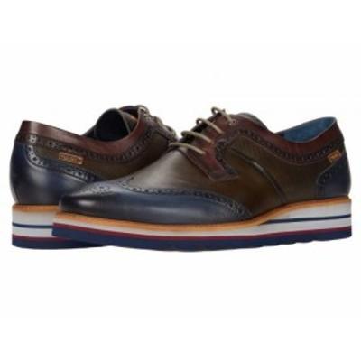 Pikolinos メンズ 男性用 シューズ 靴 オックスフォード 紳士靴 通勤靴 Durcal M8P-4009C1 Blue【送料無料】