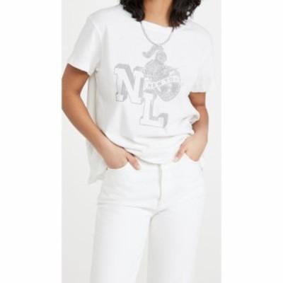 ニリ ロータン Nili Lotan レディース Tシャツ トップス Printed Brady Tee Vintage White with Light Grey