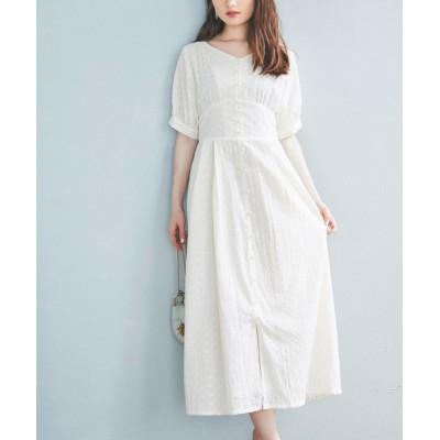 tocco closet / 後ろレースアップデザインカットワークレース刺繍コットンワンピース WOMEN ワンピース > ワンピース
