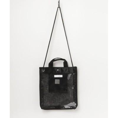 JUGLANS / mesh × vinyl 2way tote bag WOMEN バッグ > トートバッグ