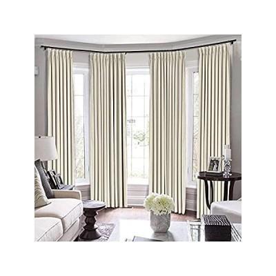 Pinch Pleated Curtains Room Darkening Polyester Curtain for Traverse Rod Li 並行輸入品