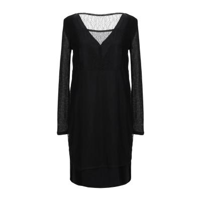 BOSS HUGO BOSS ミニワンピース&ドレス ブラック 40 キュプラ 100% / トリアセテート / ポリエステル ミニワンピース&ドレス