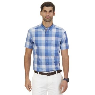 カジュアルシャツ ノーティカ Nautica Big & Tall Buffalo Plaid 半袖 Shirt