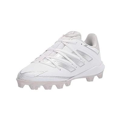 adidas FX4070 Baseball Shoe, White/Silver/Grey, 11 US Unisex Little Kid