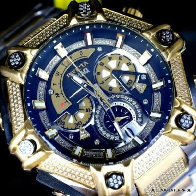 インビクタ 腕時計 Invicta Shaq Bolt 1.4CTW Diamond Steel Swiss Mvt Gold Two Tone Watch 60mm New インヴィクタ