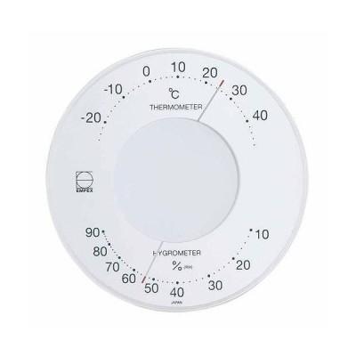 EMPEX エンペックス 温度・湿度計 セレナ 温度・湿度計 壁掛用 LV-4303 ホワイト