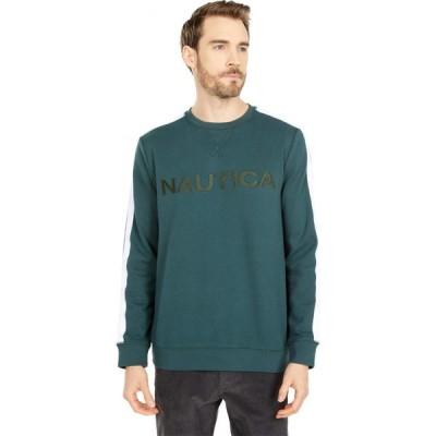 ノーティカ Nautica メンズ スウェット・トレーナー トップス Logo Fleece Sweatshirt Bayou Green