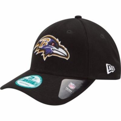 ニューエラ New Era メンズ キャップ 帽子 Baltimore Ravens League 9Forty Adjustable Black Hat