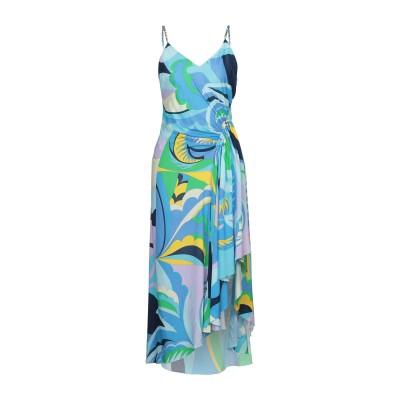 エミリオ・プッチ EMILIO PUCCI ロングワンピース&ドレス ブルー 42 レーヨン 100% ロングワンピース&ドレス