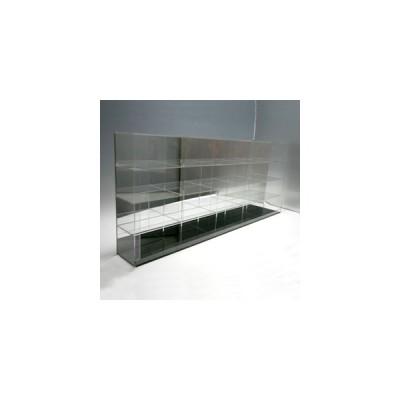 【送料無料】ディスプレイケース/ モデルカーケース20/ クリア/ 背面ミラー/ 幅87.8cm/奥行10.6cm/高さ37.15cm