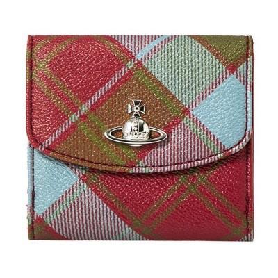 ヴィヴィアン ウエストウッド 2つ折り財布 SMALL WALLET 51150003 10256 O206 レッド系/マルチ