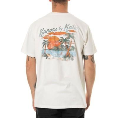 ケイティン Katin メンズ Tシャツ トップス Paradise Short Sleeve T-Shirt White