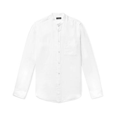 セオリー THEORY シャツ ホワイト S リネン 100% シャツ