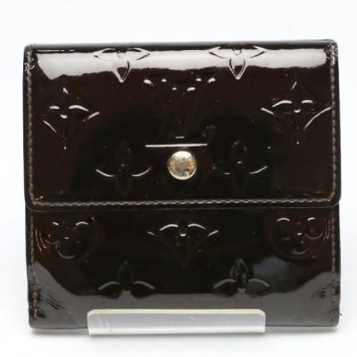 Wホック ヴェルニ ポルト モネ・ビエ カルト クレディ M93523 ルイ・ヴィトン アマラント  二つ折り財布 LOUIS VUITTON