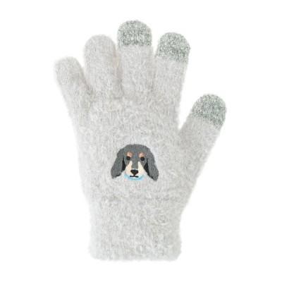 おしゃれ スマホ 対応 かわいい キッズ 子供  スマホ手袋 ミニチュアダックス