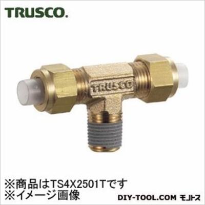トラスコ(TRUSCO) クイックシール継手チーズφ4X2.5呼びR1/8 25 x 54 x 11 mm TS-4X25-01T