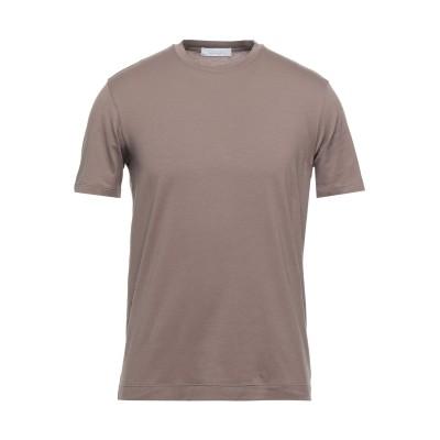 クルチアーニ CRUCIANI T シャツ ライトブラウン 50 コットン 93% / ポリウレタン 7% T シャツ
