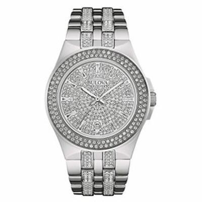 腕時計 ブローバ メンズ Bulova Men's 96B235 Swarovski Crystal Stainless Steel Watch