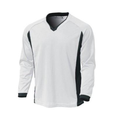 ベーシック ロングスリーブ サッカーシャツ スポーツウエア ホワイト 110〜150