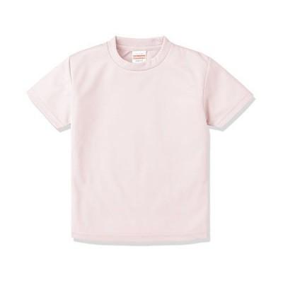 (ユナイテッドアスレ)UnitedAthle 4.1オンス ドライ アスレチック Tシャツ 590002 [キッズ] 576 ベビーピンク