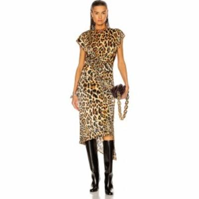 パコラバンヌ PACO RABANNE レディース ワンピース ラップドレス ワンピース・ドレス Wrap Asymmetrical Dress Leopard