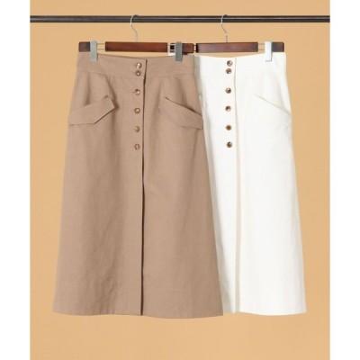 スカート martinique/フロントボタンサファリスカート