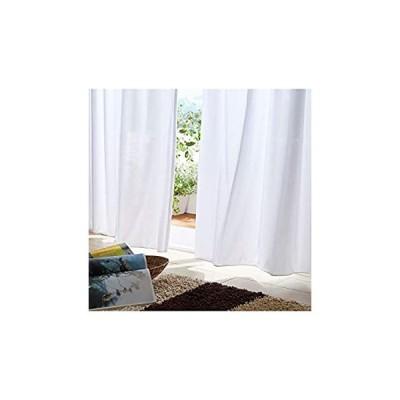 [nissen(ニッセン)] レースカーテン レース カーテン 2枚組 2重 しっかり 遮像 遮熱 断熱 防寒 UVカット 24時間見えにくい 白 幅