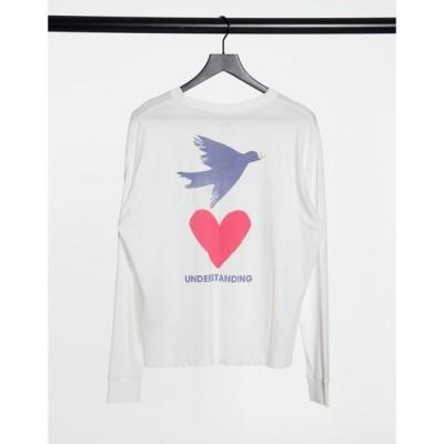リーバイス Levi's レディース 長袖Tシャツ トップス graphic oversized long sleeve tee in white