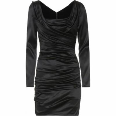 ドルチェandガッバーナ Dolce and Gabbana レディース ワンピース ワンピース・ドレス Stretch silk minidress Black